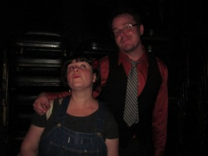 Me and SATURDAY WRITE FEVER co-founder Stuart Bousel. (He's the good-looking one, and I'm the one in the overalls.)