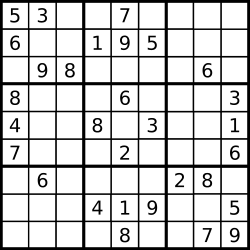 This is a Sudoku puzzle. (Unsolved, like most things.)