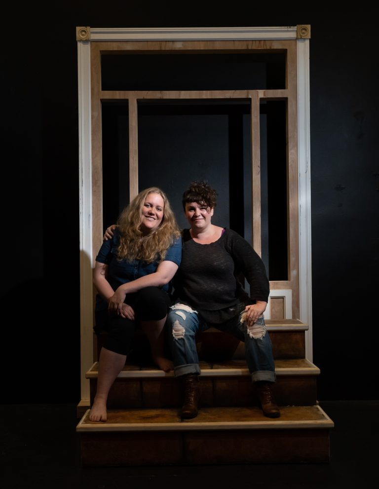 Ariel Craft (left) and me (right) shot by Paul Kuroda for the SF Chronicle